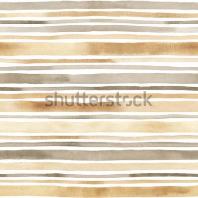 Vinilo Acuarela a rayas de patrones sin fisuras. Fondo dibujado a mano con rayas de acuarelas