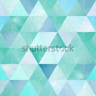 Vinilo Acuarela de patrones sin fisuras con triángulo geométrico vintage
