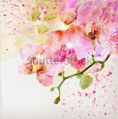 Vinilo Acuarela, fondo floral.