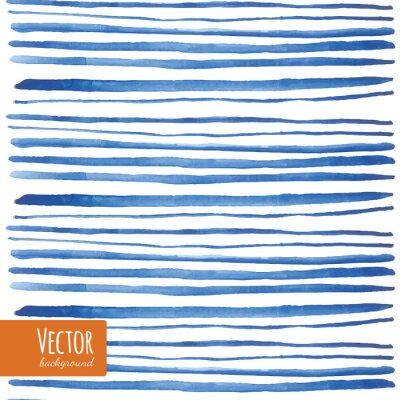 Vinilo Acuarela tiras azules en el vector.