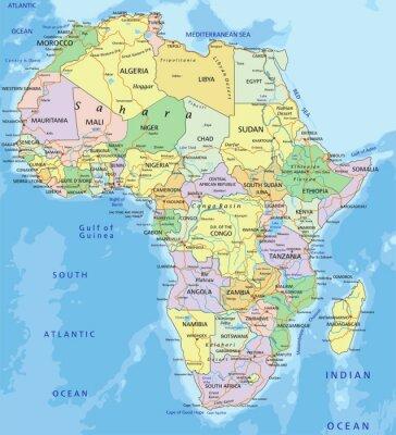 Vinilo África - altamente detallado mapa político editable.