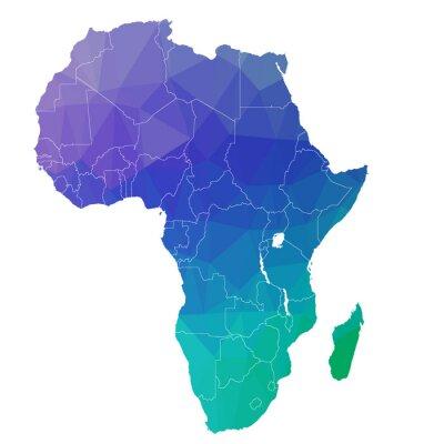 Vinilo África en el triángulo de color. Raster 4