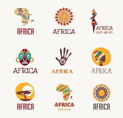 Vinilo África, iconos de Safari y conjunto de elementos