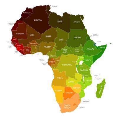 Vinilo África Mapa de colores Formas Países