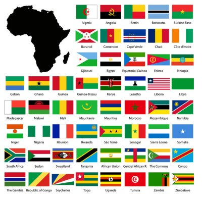Vinilo African flags