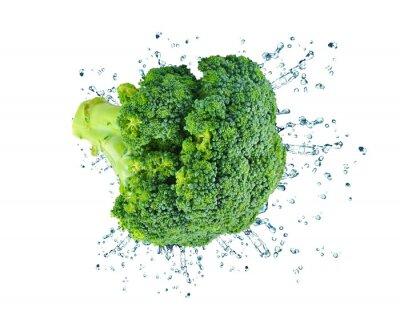 Vinilo aislado brócoli splash