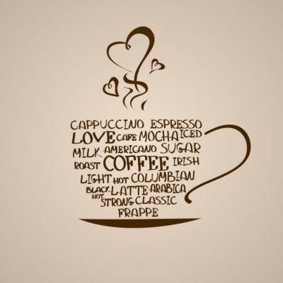 Vinilo Aislado icono de la taza de café