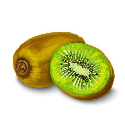 Vinilo Aislado Kiwi cartel o emblema