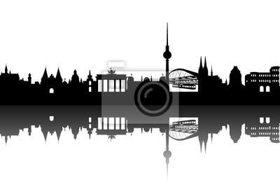 Vinilo Alemania Ciudades abstracto