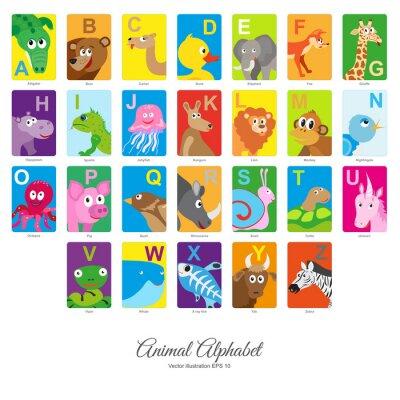 Vinilo Alfabeto animal plano