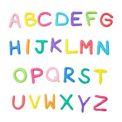 Vinilo Alfabeto colorido de a a z