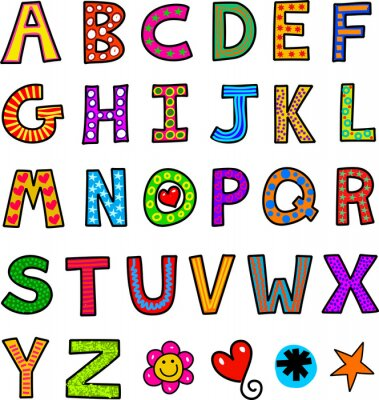 Vinilo Alfabeto del texto Doodle