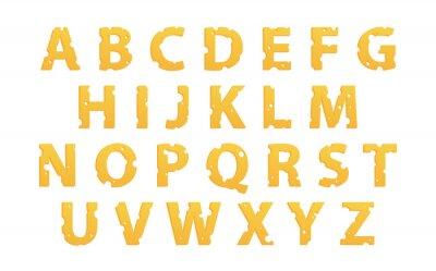 Vinilo Alfabeto hecho de queso