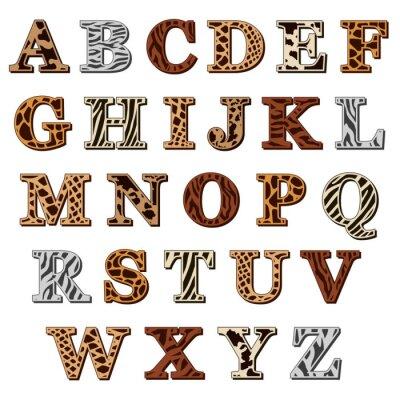 Vinilo Alfabeto latino con animal print