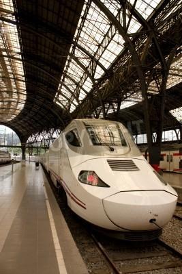 Vinilo Alvia train station in France, Barcelona, Spain