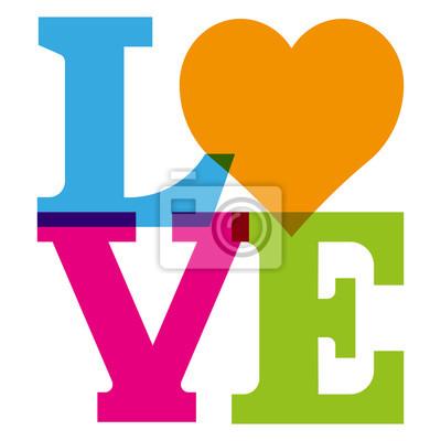 Vinilo Amor mit Herz