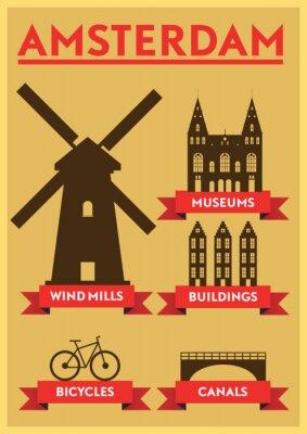 Vinilo Amsterdam City Diseño de la tipografía