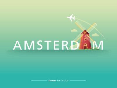 Vinilo Amsterdam tipografía