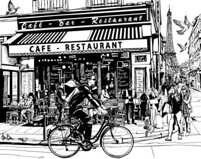 Vinilo Antiguo café en París