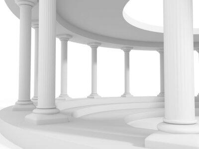 Vinilo Antiguo estilo columna arquitectura diseño de fondo