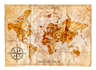 Vinilo Antiguo mapa
