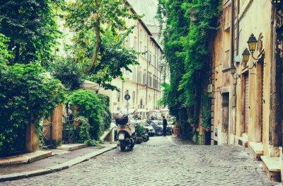 Vinilo Antiguo patio en Roma, Italia