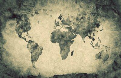 Vinilo Antiguo, viejo mapa del mundo. Dibujo a lápiz, fondo de la vendimia