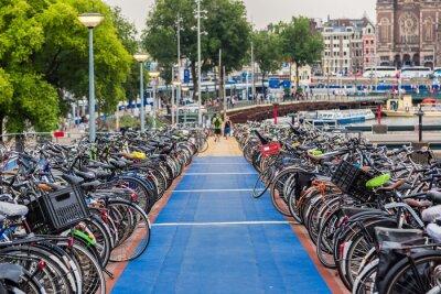 Vinilo Aparcamiento para bicicletas en Amsterdam