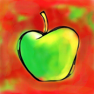 Vinilo Apple Painting