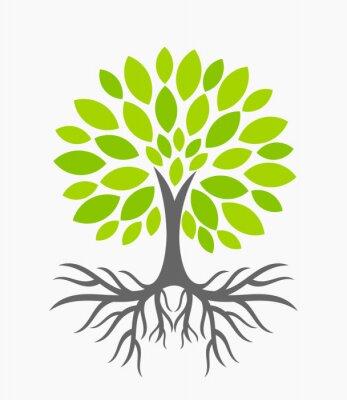 Vinilo Árbol con raíces