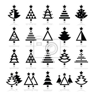 vinilo arbol navidad Rbol De Navidad Diversos Tipos Iconos Conjunto De
