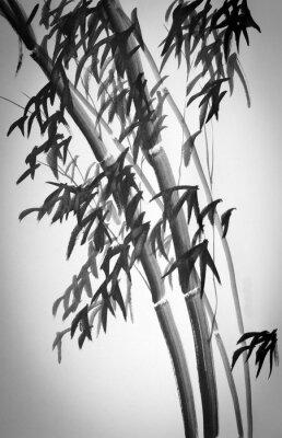 Vinilo árboles de bambú