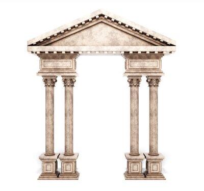 Vinilo Arco clásico de la columna del Corinthian.