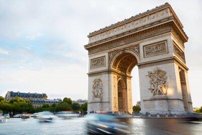 Vinilo Arco del Triunfo en París por la tarde