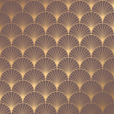 Vinilo Art Deco Pattern