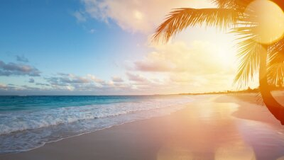 Vinilo Arte Vacaciones de verano playa del océano