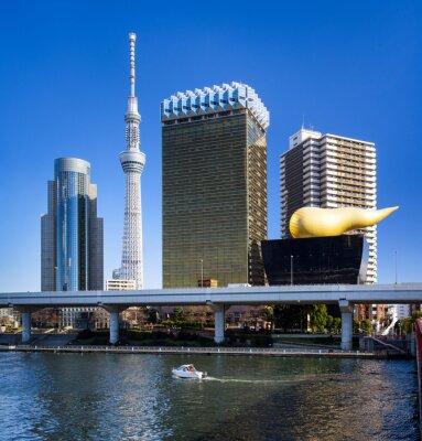 Vinilo Asakusa Skyline in Tokyo mit Skytree und Asahi Gebäude