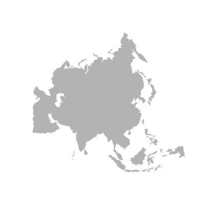Vinilo Asia outline world map - Vector