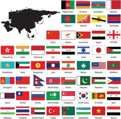 Vinilo Asian flags