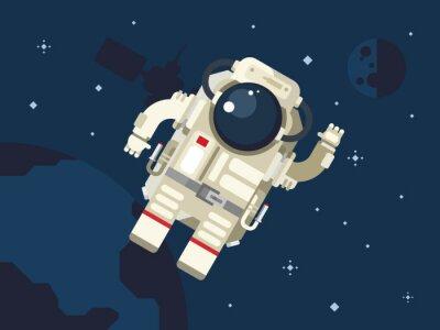 Vinilo Astronauta en el espacio ultraterrestre