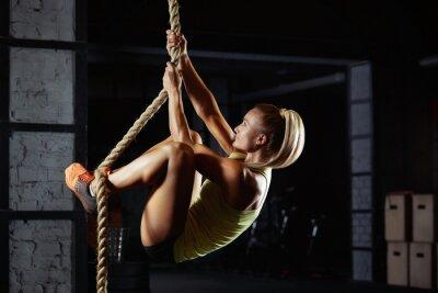 Vinilo Atleta crossfit femenino ejercicio