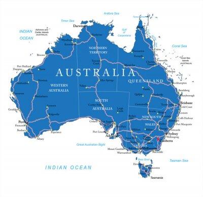 Vinilo Australia hoja de ruta