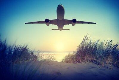 Vinilo Avión Destino del viaje Aire libre Quítate Concepto