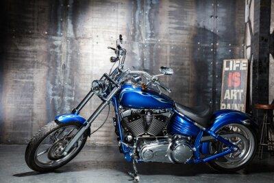 Vinilo azul cromo bicicleta de carretera