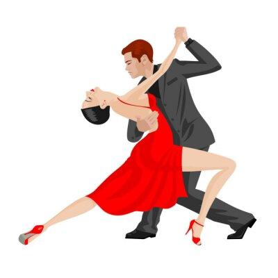 Vinilo baile del hombre y de la mujer