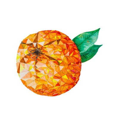 Vinilo Baja acuarela de polivinílico naranja