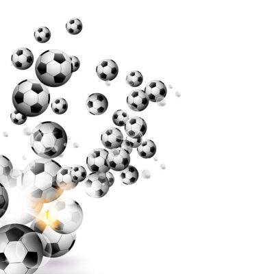 Vinilo Balón de fútbol aislado en un fondo blanco