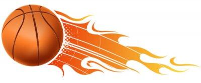 Vinilo baloncesto fuego