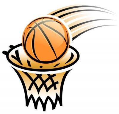 Vinilo baloncesto símbolo aro