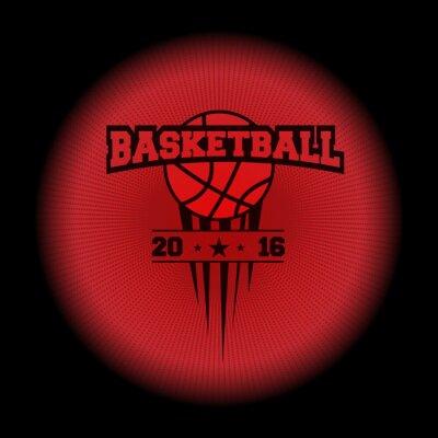 Vinilo Baloncesto, un logotipo deportivo. El emblema que aparecía de la oscuridad. ¡Perfeccione en su camisa negra! vector